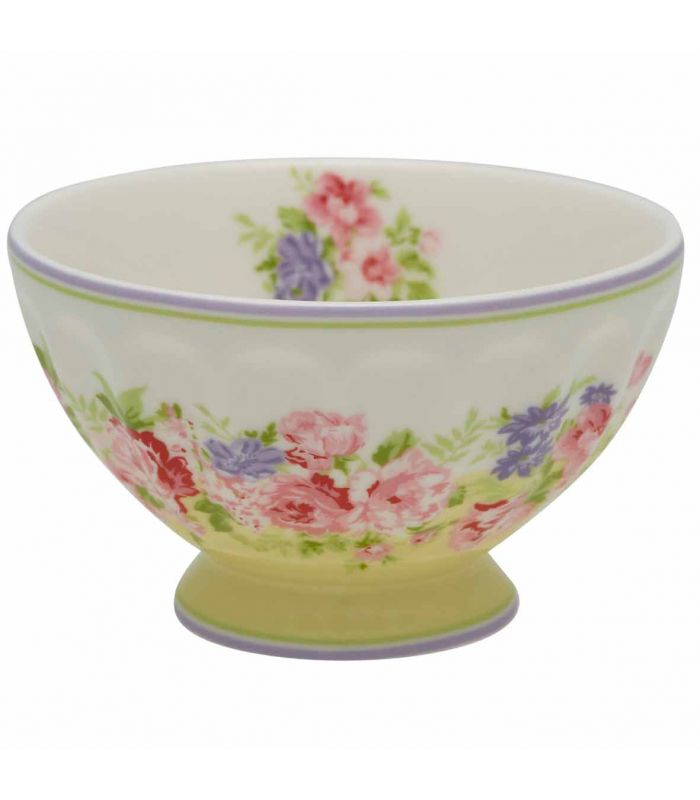 GreenGate - Rose French bowl pale yellow medium (Limited Edition)